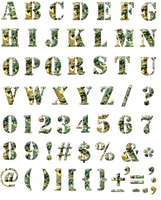 Camouflage Alphabet. PNG by sodadnima