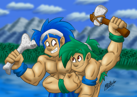 Joe 'n' Mac: Caveman Buddies by MRottweilerDogBarks