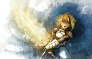 Saber - Wind by FixelCat