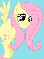 Fluttershy Colored by JamesyBeanZ