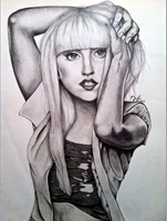 Lady Gaga by lenaleigh