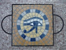 Eye of Horus (Glass tile mosaic) by Rus-ka