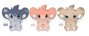 More Hamster Adoptables CLOSED by MBPanther
