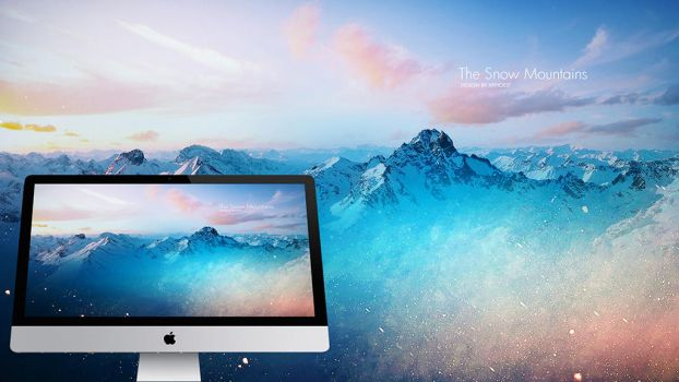 Wallpaper The Snow Mountains by xiphoest