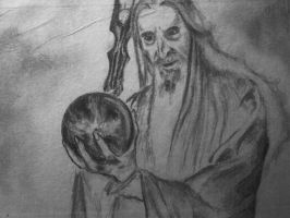 Saruman and the Palantir by ChristianTsvetanov