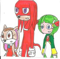Knuckles, Cream and Cosmo by cmara