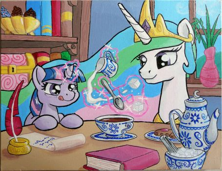 Teatime Magic Practice (BUCK Charity Piece) by muffinshire