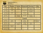 HL: Minnie's 3rd Year Timetable by TargeBunny