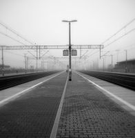 Waiting for the train 2 by Kitsa666