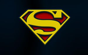 Yellow Superman Logo by the-big-al
