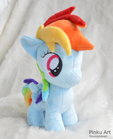 Rainbow Dash filly by PinkuArt
