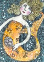 gold fish girl by firejay