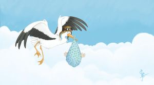 flying babies by artsytarts