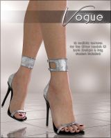 Vogue for Glitter Sandals by cosmosue