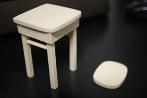 Miniature Chair WIP by OneOfLifesMysteries