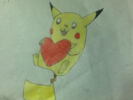 Pikachu Loves You! by Bordercollie15