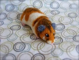 Custom Needle Felted Dwarf Hamster by CVDart1990