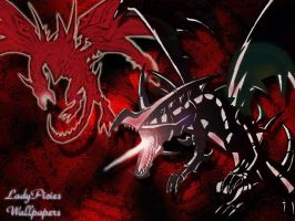 Red Eyes background by ladypicies