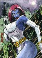 Mystique Sketch Card by DKuang