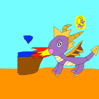 Old school Spyro pic by SuperSmashCynderLum