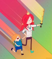 Adventure Time with Mads and Branny by entangle