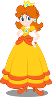 Princess Daisy - in Equestria Girls style by Canterlotian