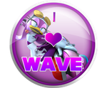 I Love Wave The Swallow Badge by darkfailure