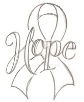 Hope Cancer Ribbon Tattoo by Metacharis