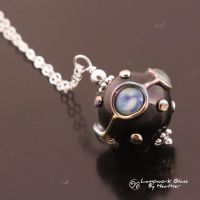 Opal Blue Pools Pendant by booga119