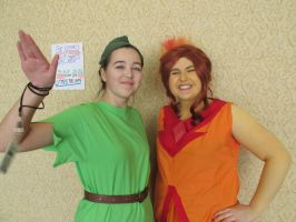 Peter Pan and Flame Princess by GeniebabyFelicia