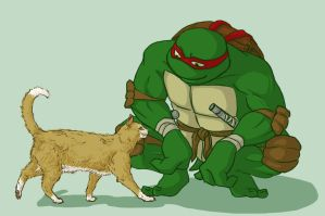 TMNT: Raph and Klunk giftart by Fulcrumisthebomb