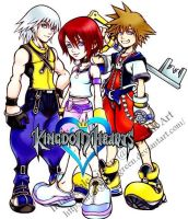 The Kingdom Hearts Gang by IntangiblexGreen