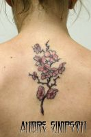 Cherry blossom back tattoo 1 by ERASOTRON