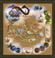 Academagia World Map by SteamRobin