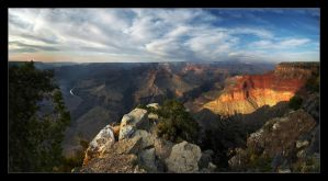 Rocky Days - Canyon Sunset III by fr1gidity