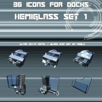 Hemiglass Icon Set vol.1 by MrElu