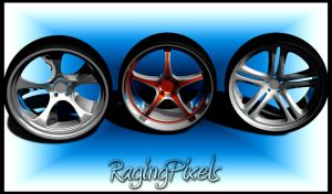 my 3 rims from tutorials by ragingpixels