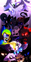 Dance, my Puppets... (SHADOWS ARE RISING, PEOPLE) by vaporeonSHIT