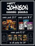 Matt Johnson Comic Packs by Superheroine-Art