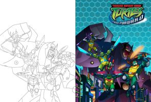 TMNT: FF Season 2 DVD Cover Colors by Nexxorcist