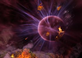 Fire and Bremstone Background by mysticmorning