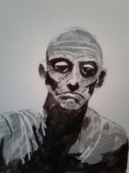 The Mummy Ink wash Exercise by Atomic-Nerd