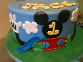 Mickey's Clubhouse Cake -close up by Spudnuts