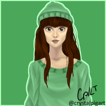 Green girl by CrystalPigArt