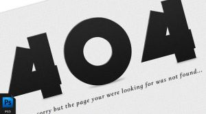 404 Error Page (PSD) by PsdChat