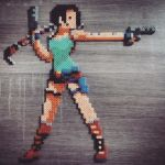 Tomb Raider01 - orignal pixel art by Hendry Roesly by camillesuard