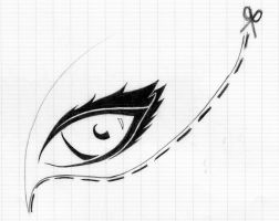 Tattoo: Eye (slice along the doted line) by Laetishaa