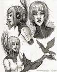 GLaDOS Drawings by TwinklePowderySnow