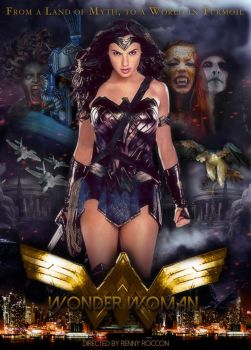 Wonder Woman Movie Poster Featuring Gal Gadot by renstar71