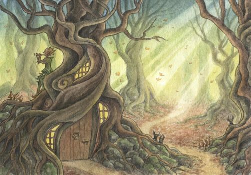 Forest home by Lhox